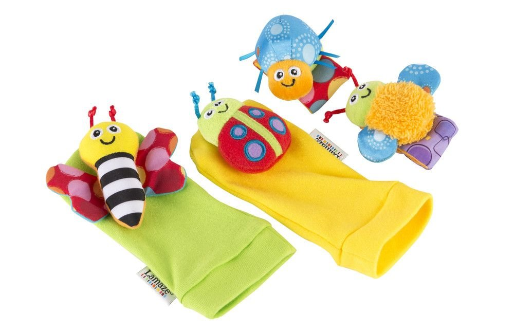 lamaze gardenbug wrist rattles and foot finders toy